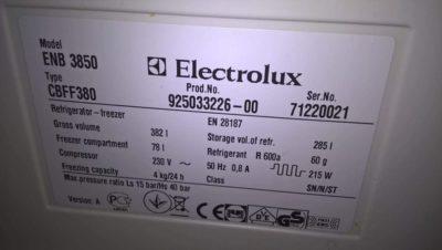 как настроить холодильник электролюкс