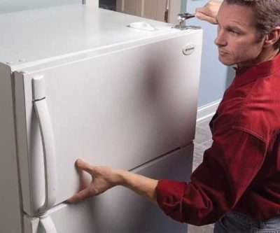 как переставить дверь на холодильнике бирюса
