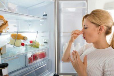как очистить холодильник от запаха