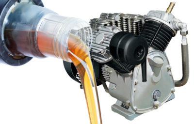как залить масло в компрессор