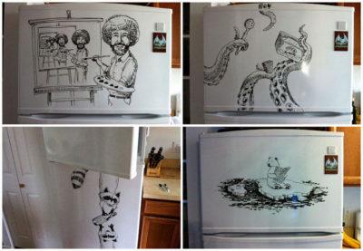 что нарисовать на холодильнике