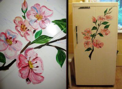 как покрасить холодильник своими руками