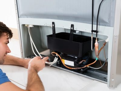 как заправить холодильник газом